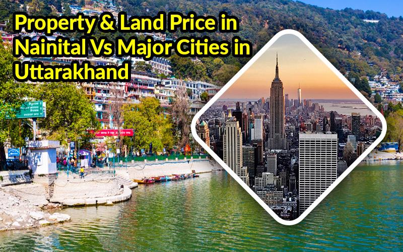 Property & Land Price in Nainital Vs Major Cities in Uttarakhand