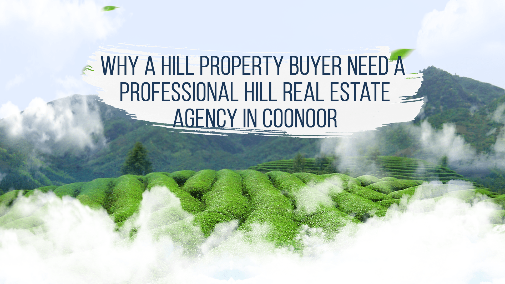 Why a Property Buyer need A  Professional Hill Real Estate Agency in Coonoor?
